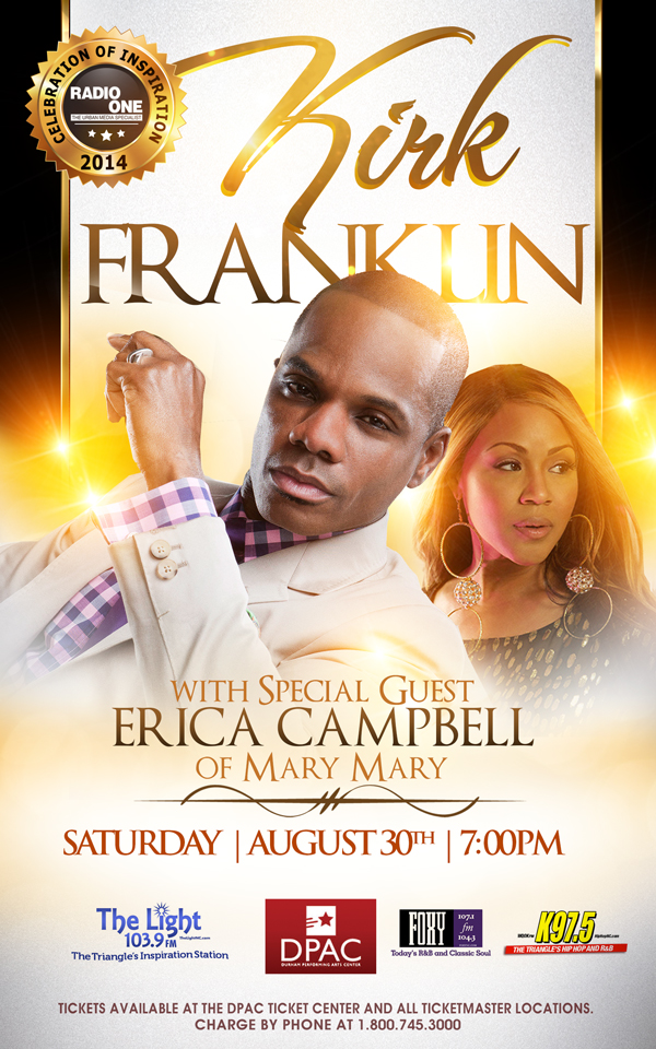 KIRK FRANKLIN  NEW FLYER WITHOUT PRE-SALE INFO