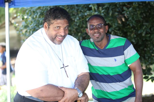 NAACP NC President Rev. William Barber and Michael Reese