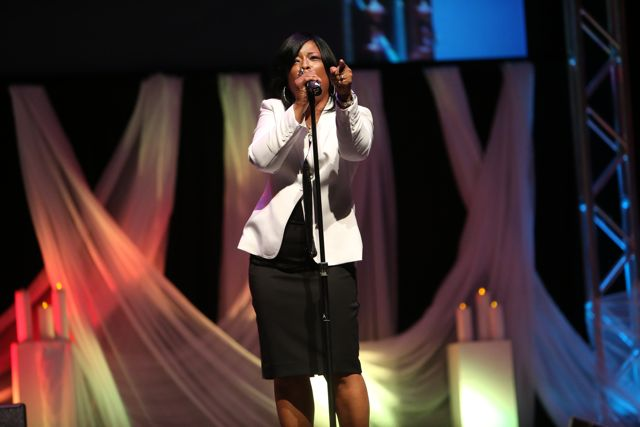 Maurette Brown Clark Performs at Lamplighter Awards 2014