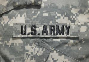 Army uniform, close-up
