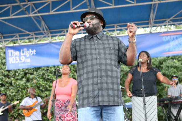 Luther Barnes performs at Unity in the Community