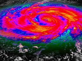 Hurricane Infrared Satellite View V1 (HD)