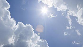 Sun Breaks Through The Clouds