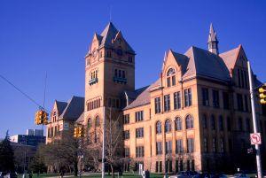 Wayne State University, Old main building with historic landmark architecture, Detroit, Michigan