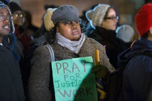 Prayer Vigil For Shooting Victim Laquan McDonald Held At Chicago Police HQ