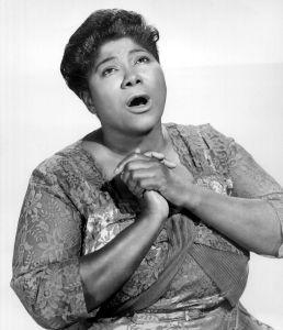 Mahalia Jackson (1911-1972) american black singer of Gospel here c. 1955