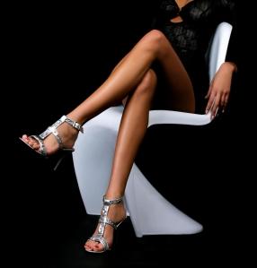 White Paint On Legs Optical Illusion