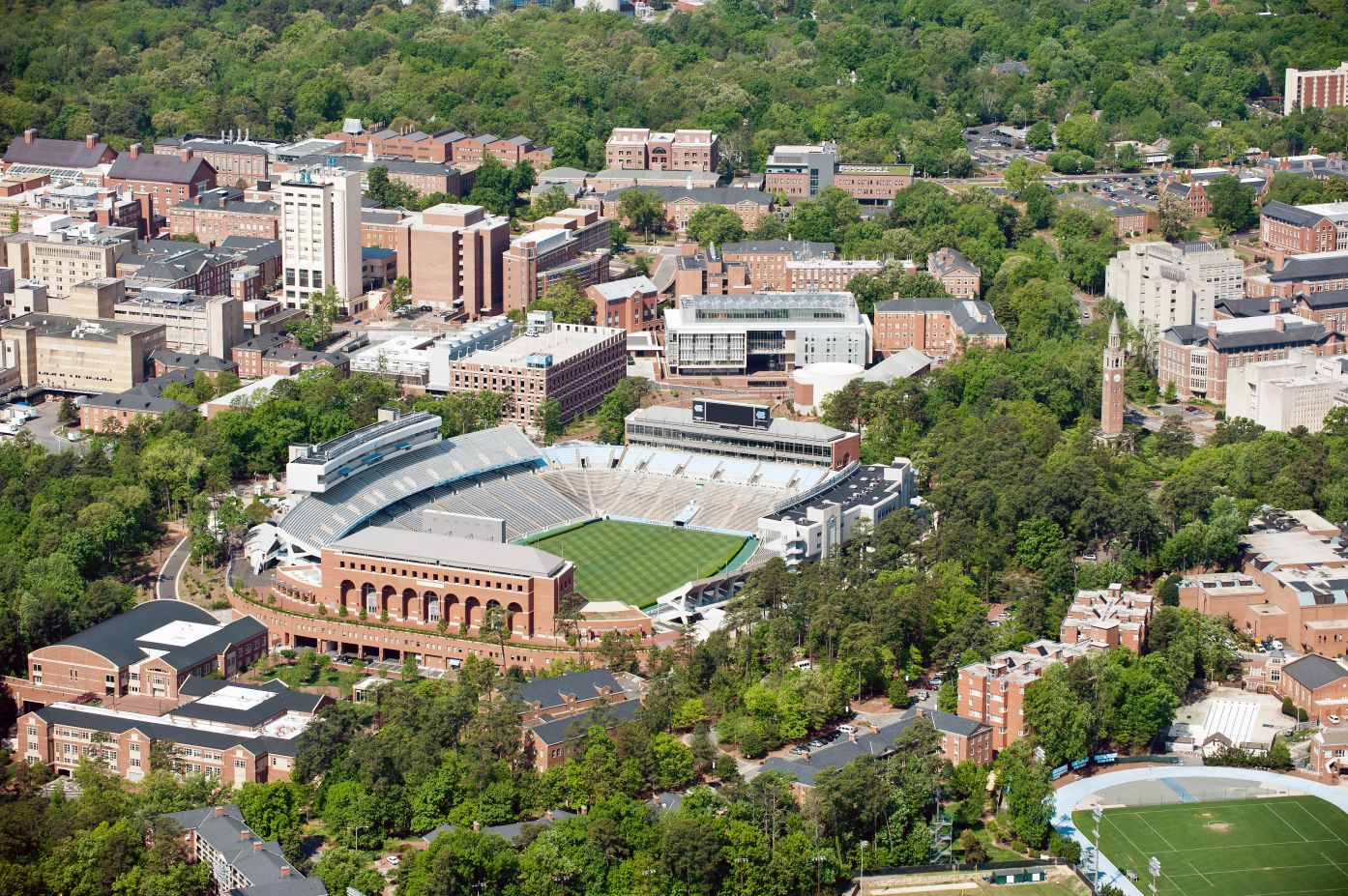 Aerial View of the University North Carolina Campus