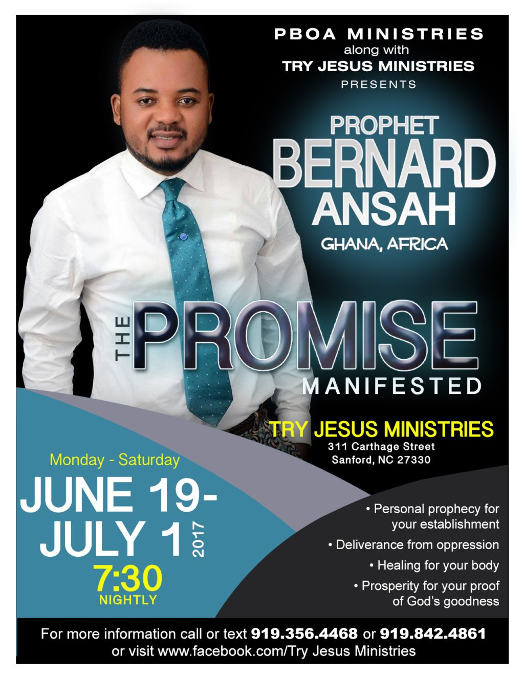 Try Jesus Ministries Presents: The Promise Manifested | The