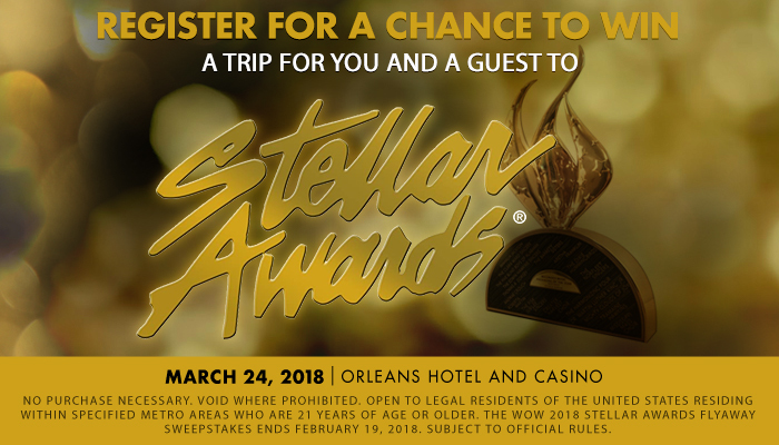 Wow 2018 Stellar Awards Flyaway