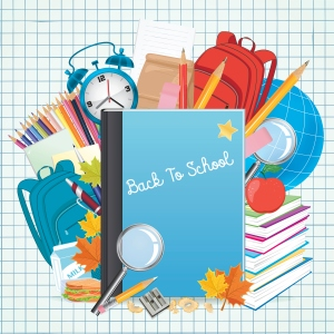 Back To School Background with education Objects