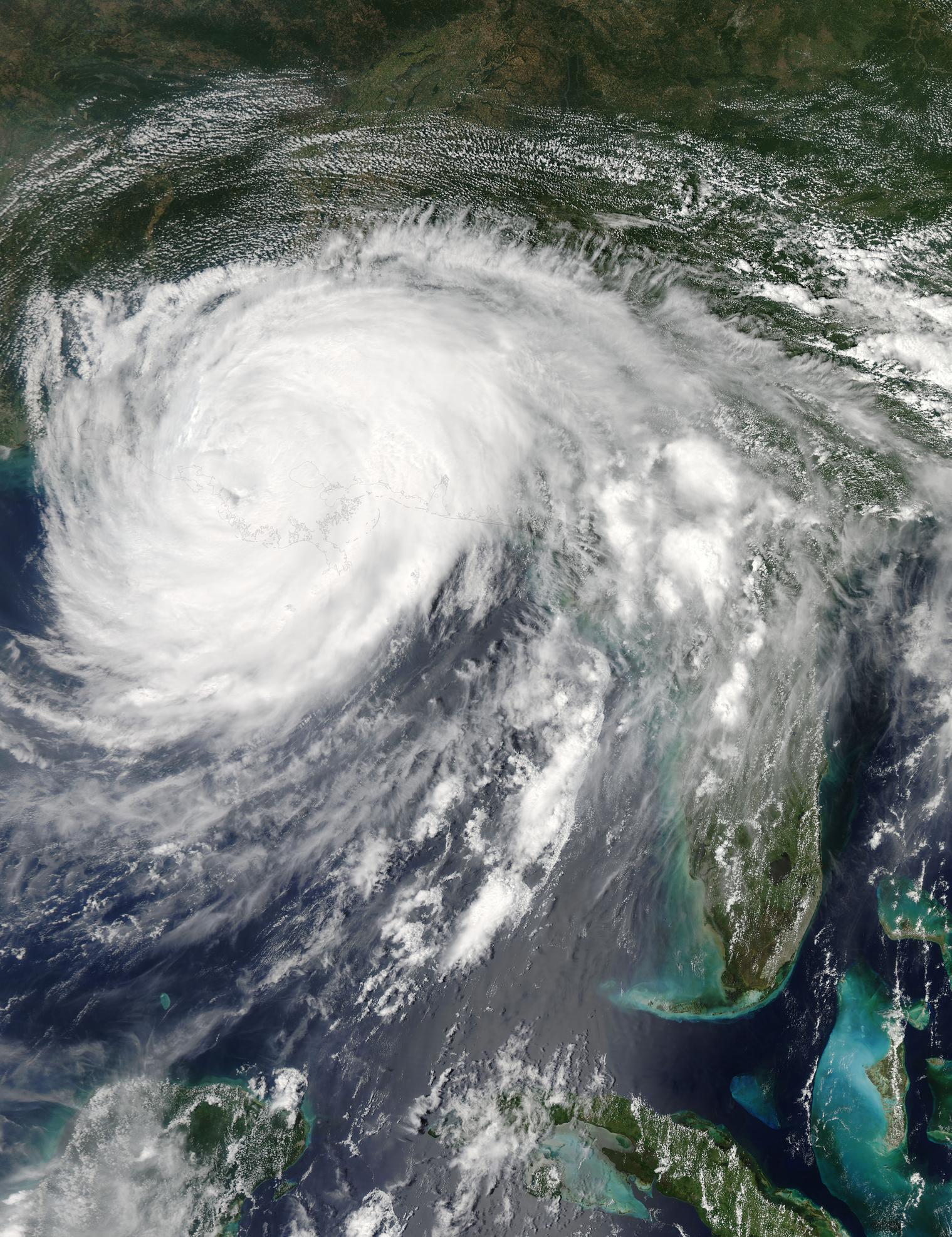 August 29, 2012 - Hurricane Isaac over Louisiana (afternoon overpass).