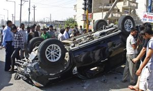 Car Accident At Artemis Chowk