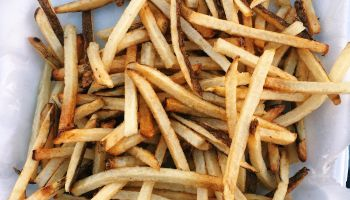 Close-Up Of French Fries In Plate