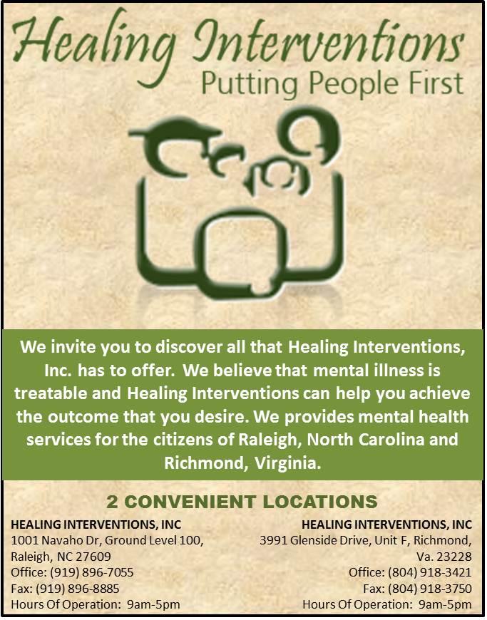 Healing Interventions flyer