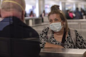 US Customs and Border Protection Officers Wear Coronavirus Protection Equipment