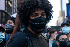Protest held to denounce killing of George Floyd of...