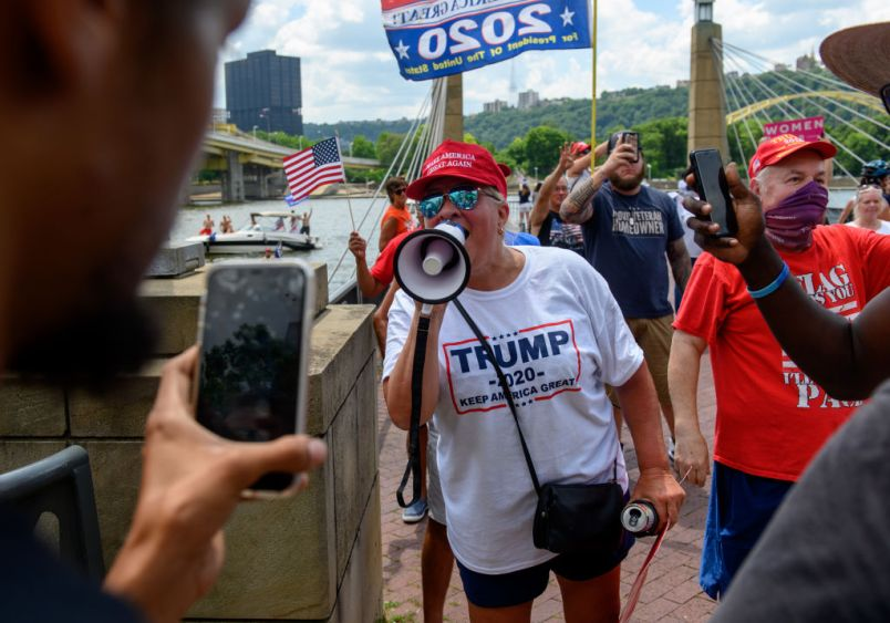 Trump Supporters Hold Boat Parade And MAGA Rally in Pittsburgh On 4th Of July